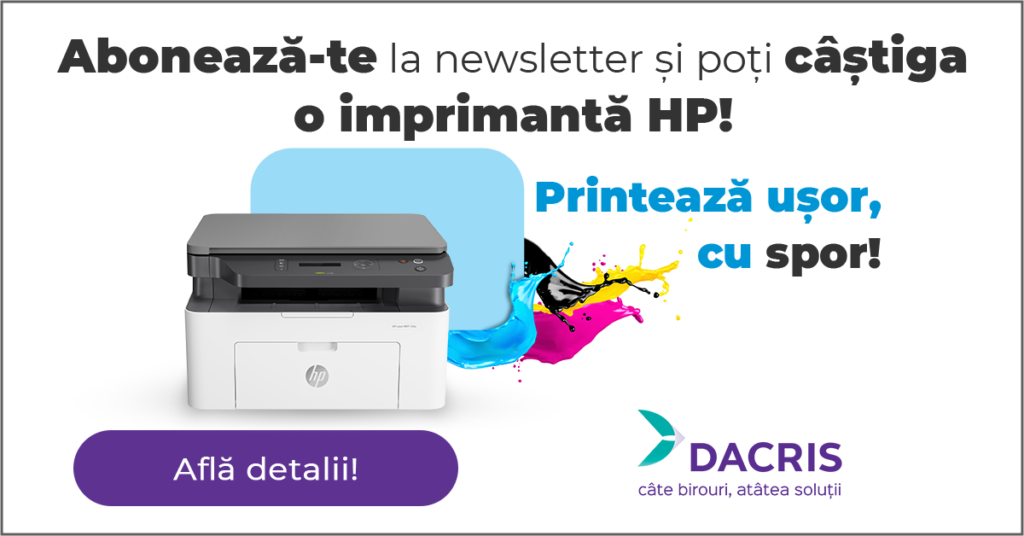 campanie abonare newsletter Dacris