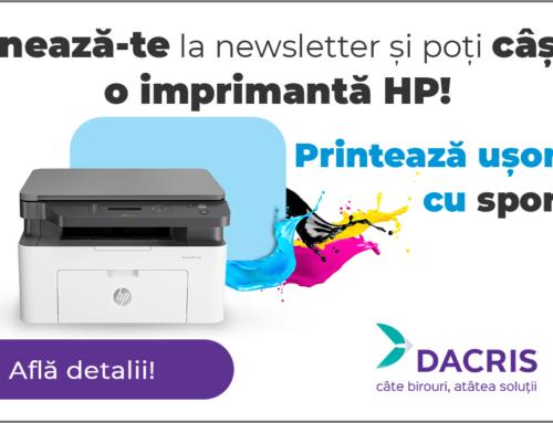 Abonează-te la newsletterul Dacris și poți câștiga!