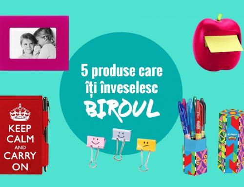 5 produse colorate pentru un birou vesel